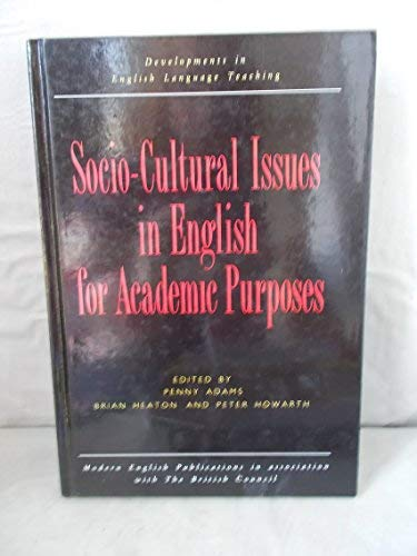 9780333539750: Socio-Cultural Issues in English for Academic Purposes (Developments in English Language Teaching)
