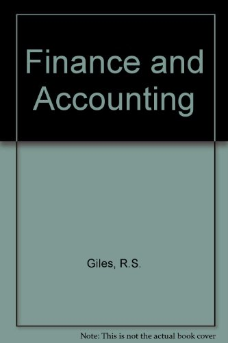9780333541647: Finance and Accounting