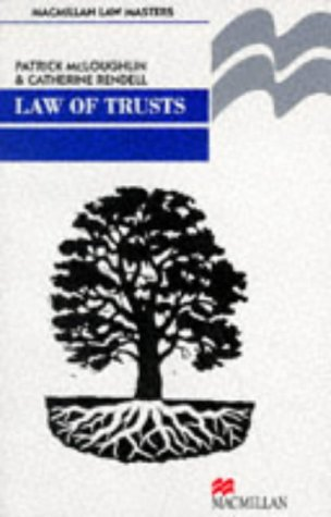 9780333542323: Law of Trusts (Professional Master)