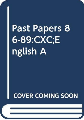 9780333547458: Past Papers 86-89: Cxc;english A
