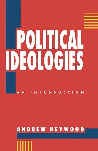 9780333549360: Political Ideologies: An Introduction