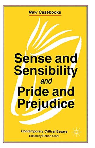 9780333550175: Sense and Sensibility & Pride and Prejudice: Jane Austen (New Casebooks)
