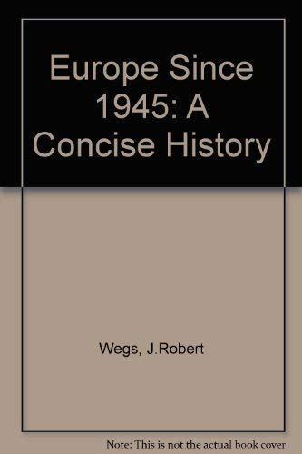 9780333551004: Europe Since 1945: A Concise History