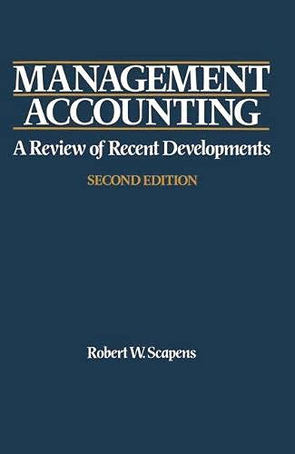 9780333553527: Management Accounting: A Review of Recent Developments