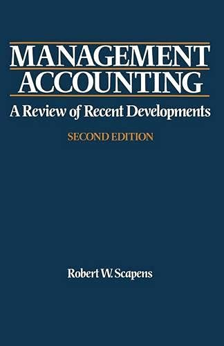 9780333553534: Management Accounting: A Review of Contemporary Developments