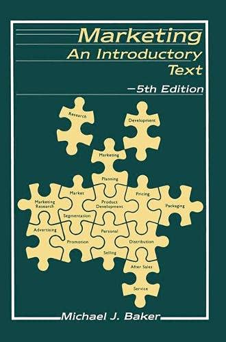 9780333556863: Marketing Introductory Text