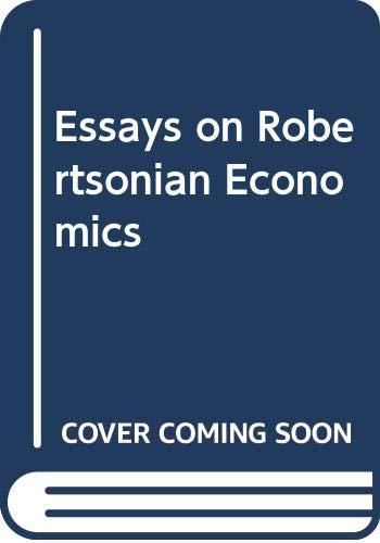 9780333558805: Essays on Robertsonian Economics