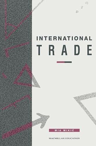 9780333563045: International Trade (Texts in Economics)