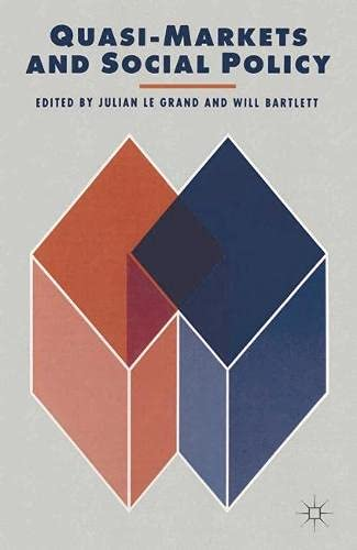 9780333565186: Quasi-Markets and Social Policy