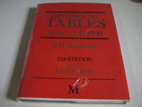 Historical Tables, 58BC-AD1990: Steinberg, S. H.; Paxton, John