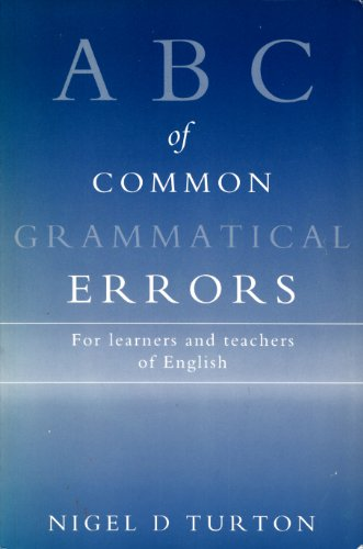 9780333567340: ABC of Common Grammatical Errors