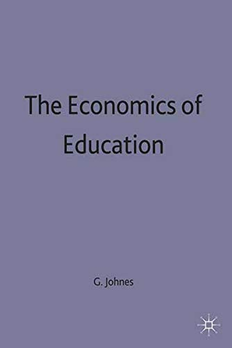 9780333568354: The Economics of Education