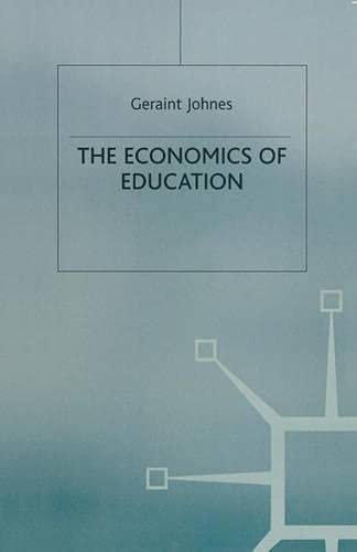 9780333568361: The Economics of Education