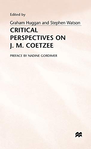 9780333569122: Critical Perspectives on J. M. Coetzee