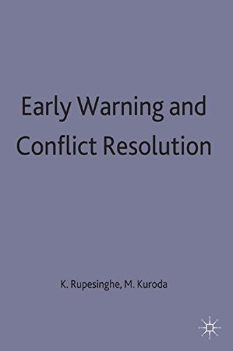 9780333569528: Early Warning and Conflict Resolution