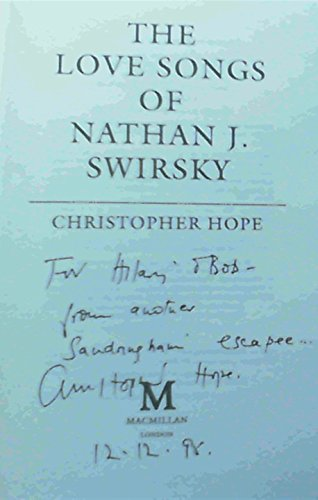Love Songs of Nathan J. Swirsky: Hope, Christopher