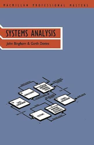 Systems Analysis (Palgrave Professional Masters (Business)): Davies, Garth W.P.,