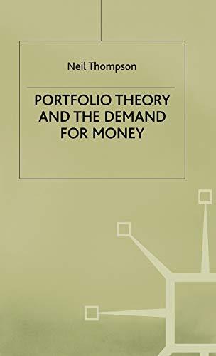 9780333572603: Portfolio Theory and the Demand for Money