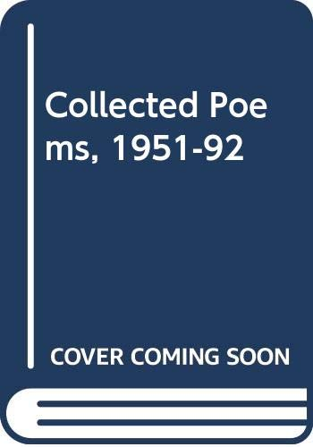 9780333575161: Collected Poems 1951-1992