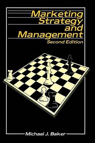 9780333576441: Marketing Strategy and Management