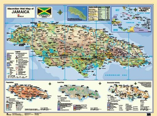 9780333579282: Macmillan Wall Map of Jamaica (Macmillan Caribbean Wall Maps)