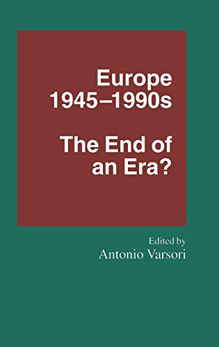 9780333579329: Europe, 1945-90's: The End of an Era?