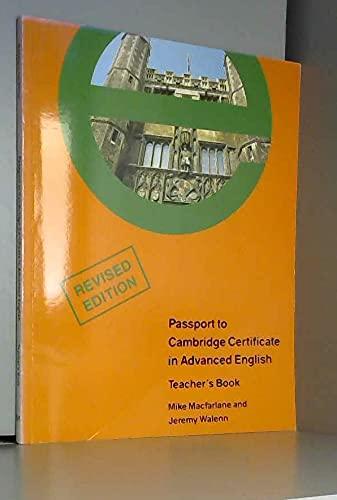 9780333579831: Passport to the Certificate in Advanced English (Cae): Teacher's Book (Macmillan passport to exams series)