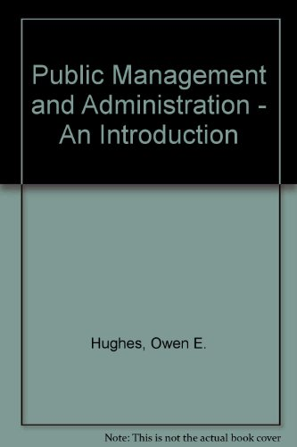 9780333580158: Public Management and Administration - An Introduction