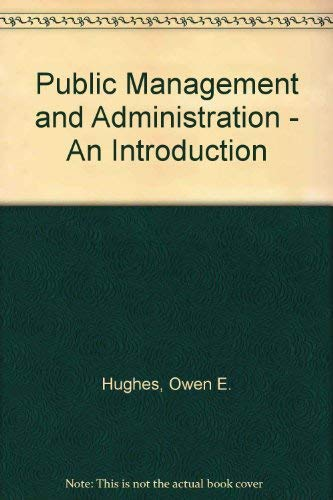 9780333580165: Public Management and Administration - An Introduction