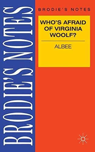 9780333580394: Albee: Who's Afraid of Virginia Woolf? (Brodie's Notes)