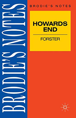 """Forster: """"Howards End"""" (Brodie's Notes): E M Forster"""
