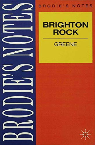 9780333581094: Greene: Brighton Rock (Brodie&quote;s Notes)