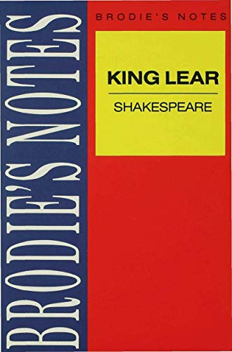 9780333581766: Shakespeare: King Lear (Brodie's Notes)