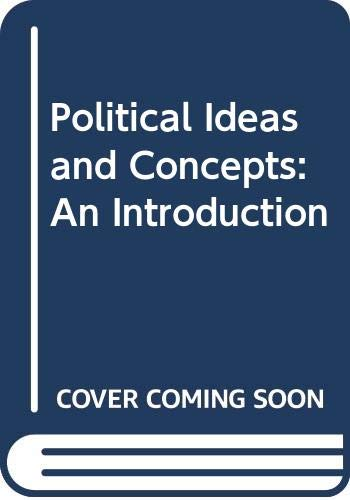 9780333583517: Political Ideas and Concepts: An Introduction