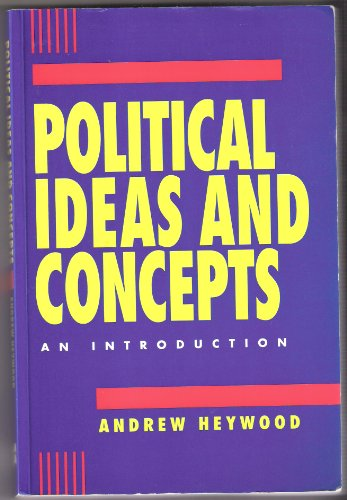 9780333583524: Political Ideas and Concepts: An Introduction