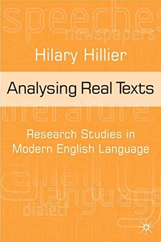 9780333584705: Analysing Real Texts: Research Studies in Modern English Language