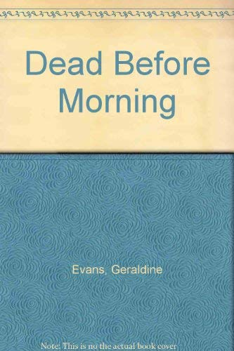 9780333584767: Dead Before Morning