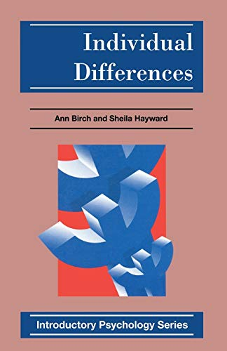 9780333588130: Individual Differences (Introductory Psychology Series)