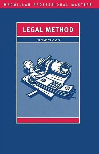 Legal Method (Palgrave Professional Masters): Ian McLeod