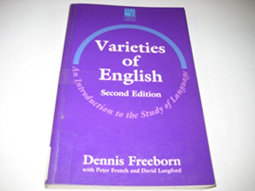 9780333589168: Varieties of English: An Introduction to the Study of Languages