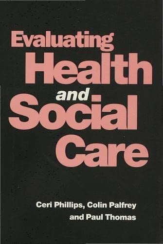 9780333591857: Evaluating Health and Social Care