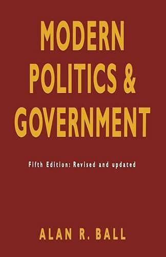 9780333593271: Modern Politics and Government