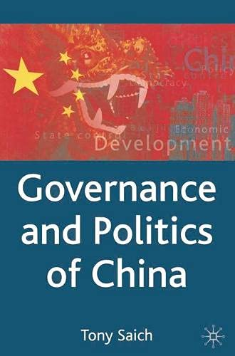 9780333594865: Governance and Politics of China (Comparative Government and Politics)