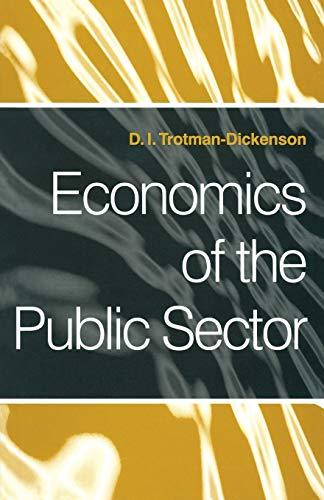 9780333596692: Economics of the Public Sector