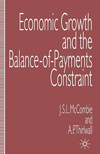 9780333601129: Economic Growth and the Balance-of-Payments Constraint (College of Education; 2)