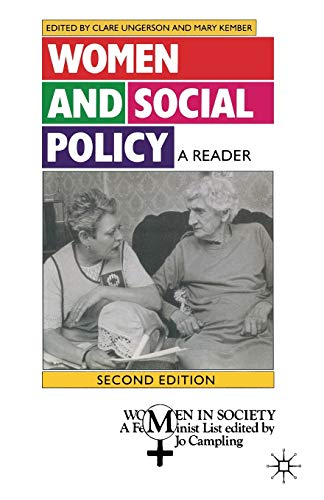 9780333601877: Women and Social Policy: A Reader (Women in Society: A Feminist List)