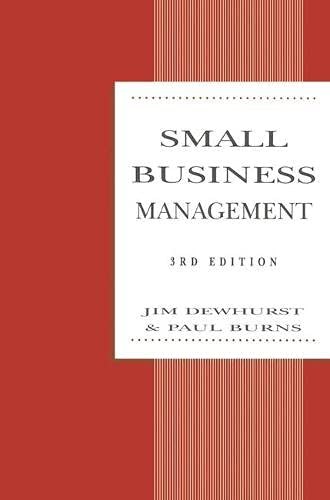 Small Business Management (Macmillan Small Business): Burns, Paul, Dewhurst,