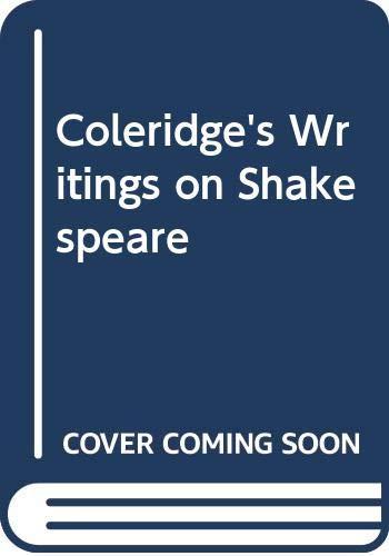 9780333606933: Coleridge's Writings: On Shakespeare