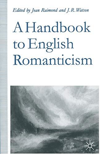9780333607060: A Handbook to English Romanticism