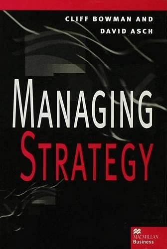 9780333608876: Managing Strategy